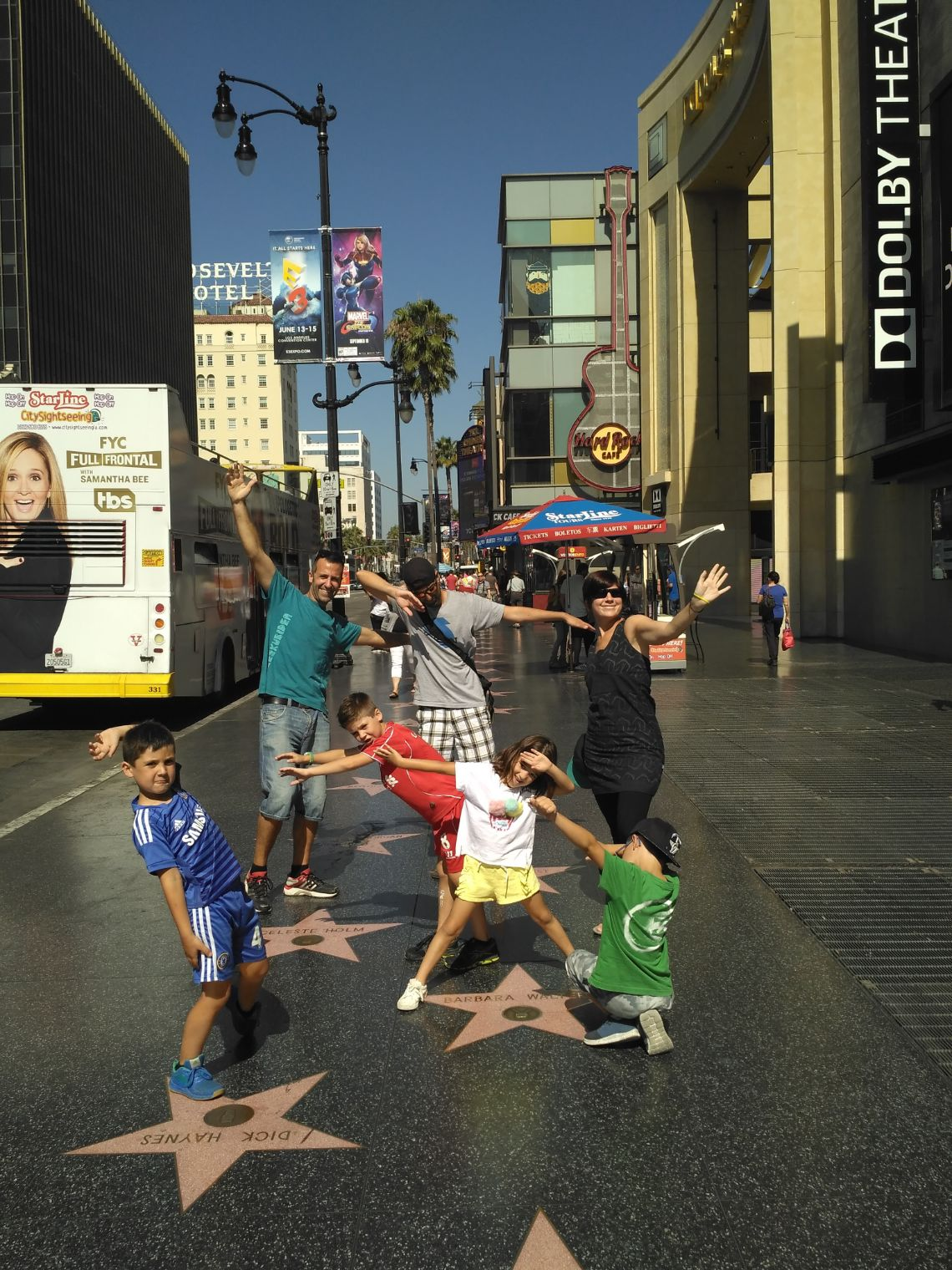 Paseo de la fama en Hollywood o Walk of Fame como se dice por estas tierras.